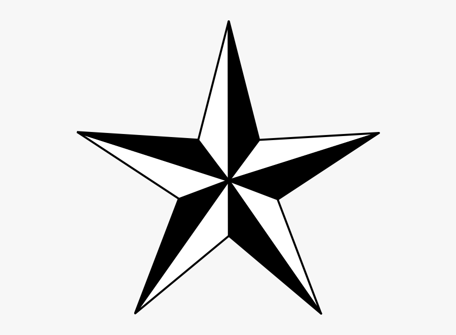 Star Clipart Black And White, Transparent Clipart