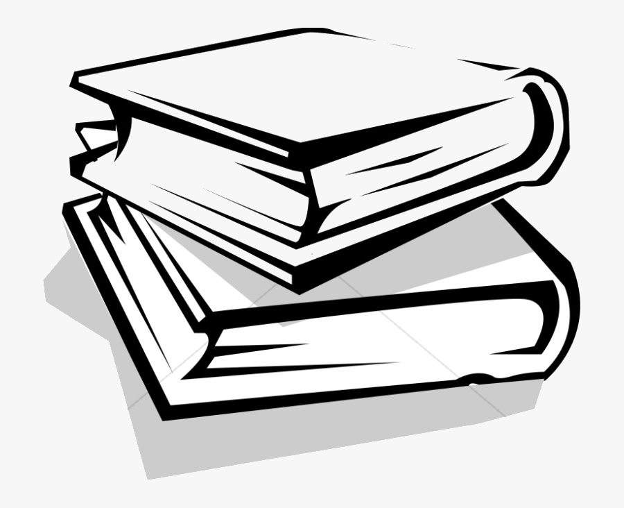 Book School Books Clipart Free Best On Transparent - Books Stacked Black And White, Transparent Clipart