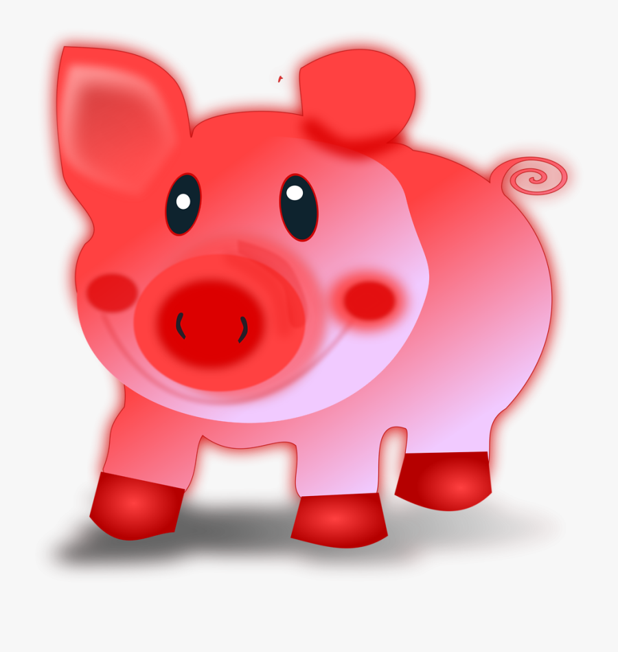 Christmas Pig Clipart - Поздравления С Новым 2019 Годом, Transparent Clipart