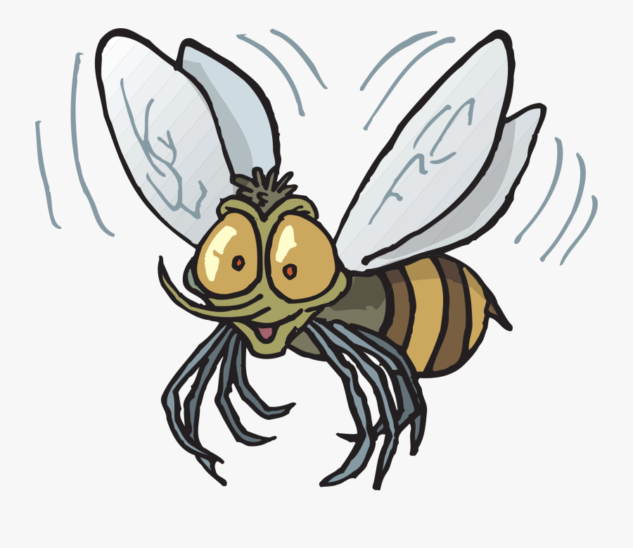Image Of Flying Bee Clipart Fly Bee Vector Clip Art - Bug Flying Clipart, Transparent Clipart