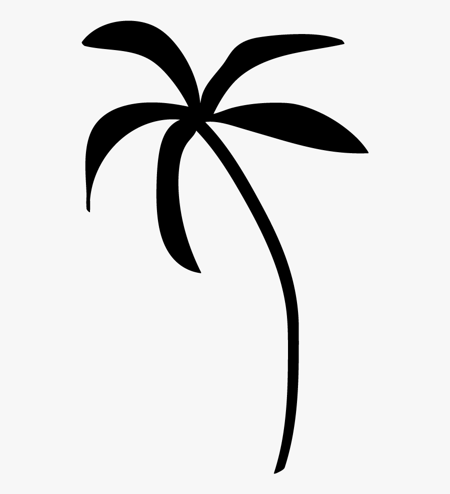 Palm Tree Clip Art - Palm Tree Clipart Black And White No Background, Transparent Clipart