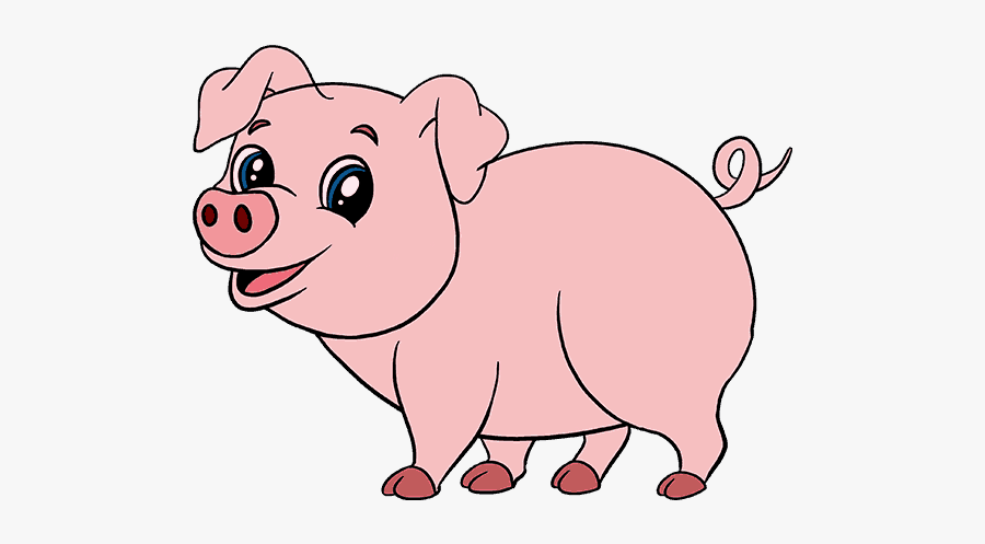 Pig Drawing Pictures At - Step By Step Pig Drawing Tutorial, Transparent Clipart
