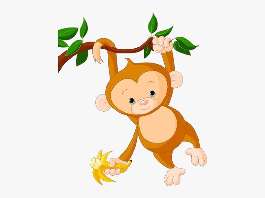 Clip Art Cute Hanging Monkey Clipart - Baby Monkey Clip Art, Transparent Clipart