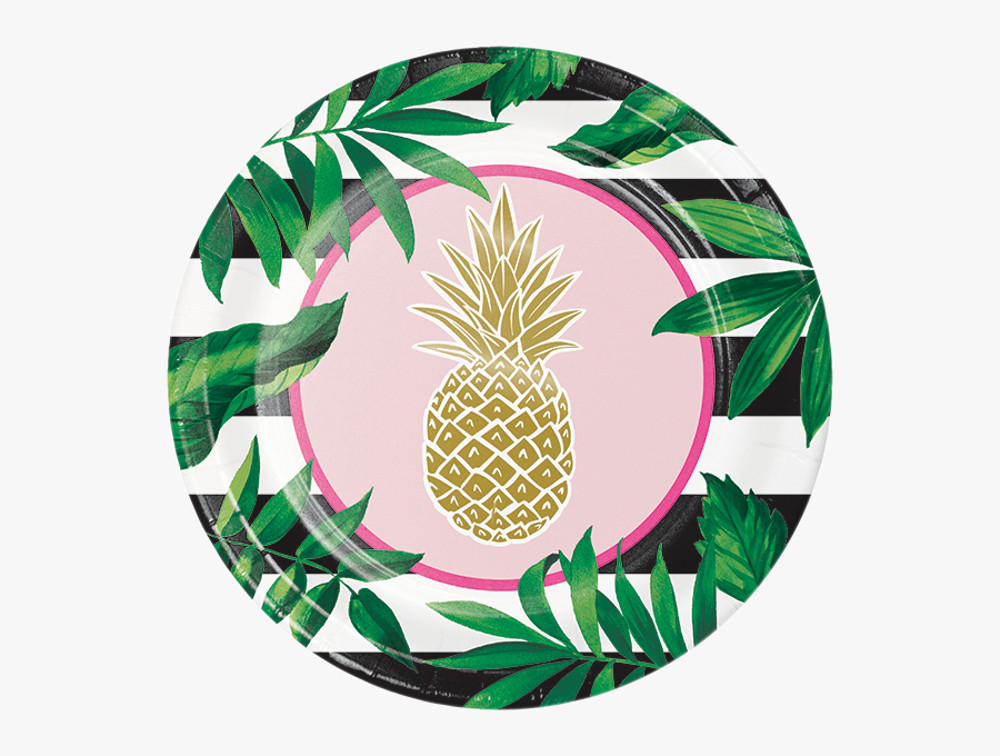 Pineapple Birthday Party Supplies Party Supplies Canada - Gold Pineapple Plates, Transparent Clipart
