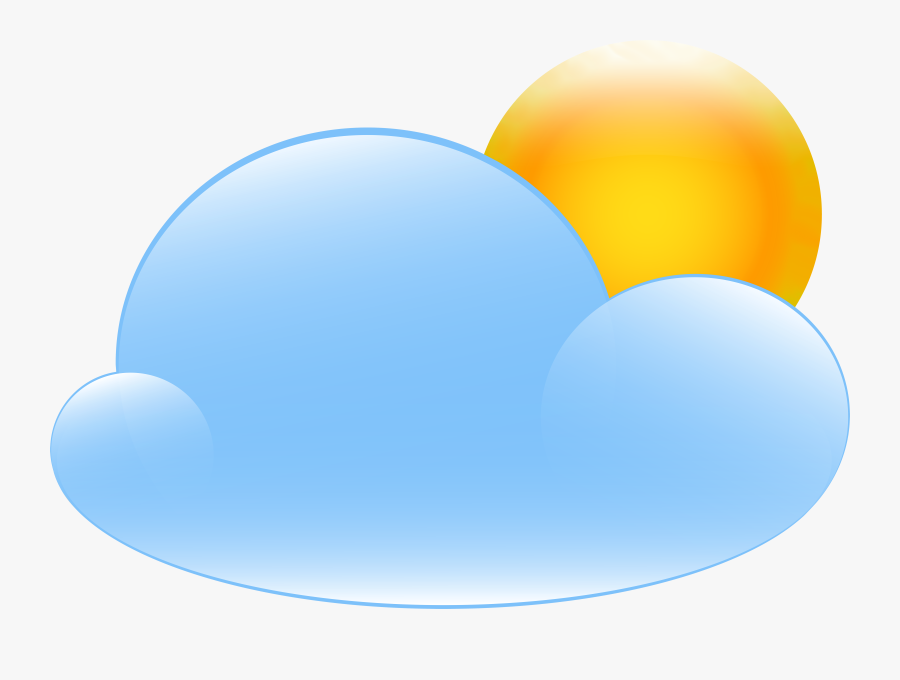 Partly Cloudy With Icon - Partly Cloudy Weather Clipart Png, Transparent Clipart