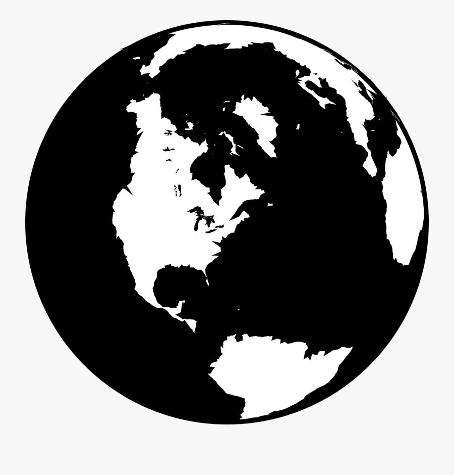 Sun And Earth Clipart Black And White - Earth Symbol Black And White, Transparent Clipart