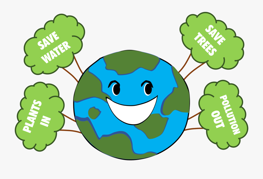 Clip Art Poster For And Green - Clean And Green Earth, Transparent Clipart