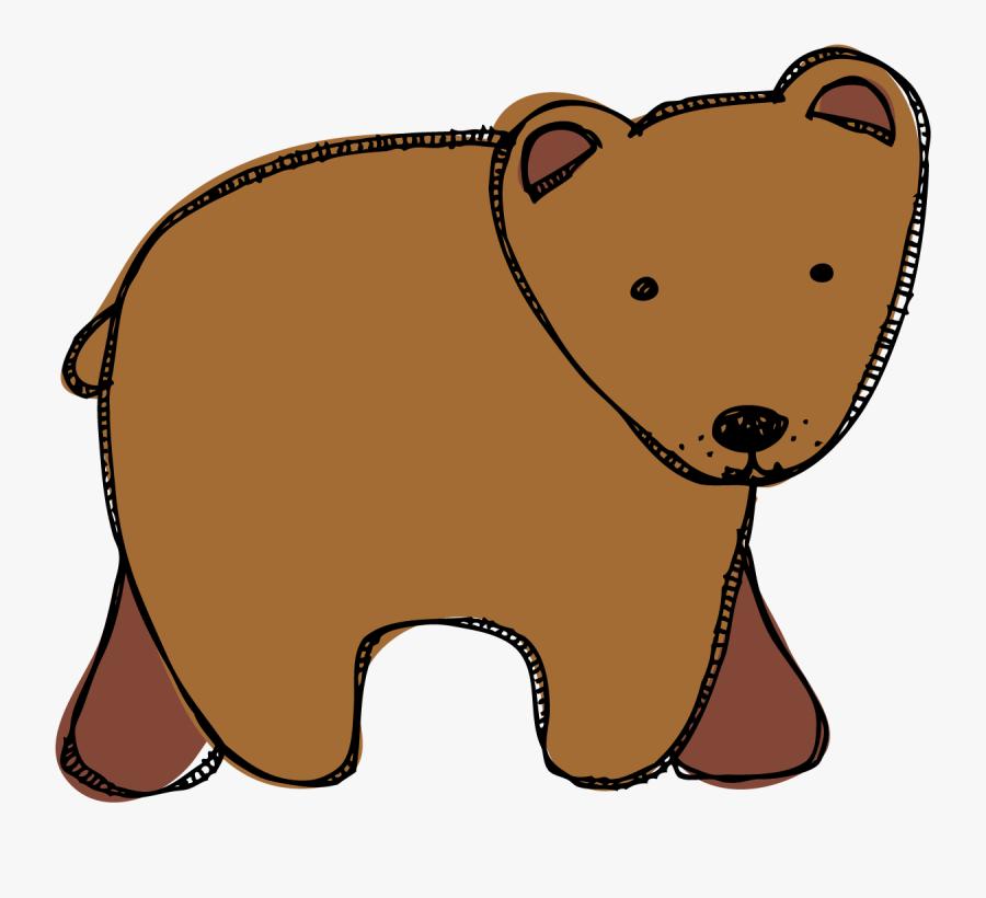 Clip Art Brown Bear Brown Bear Clipart - Clipart Cartoon Brown Bear, Transparent Clipart