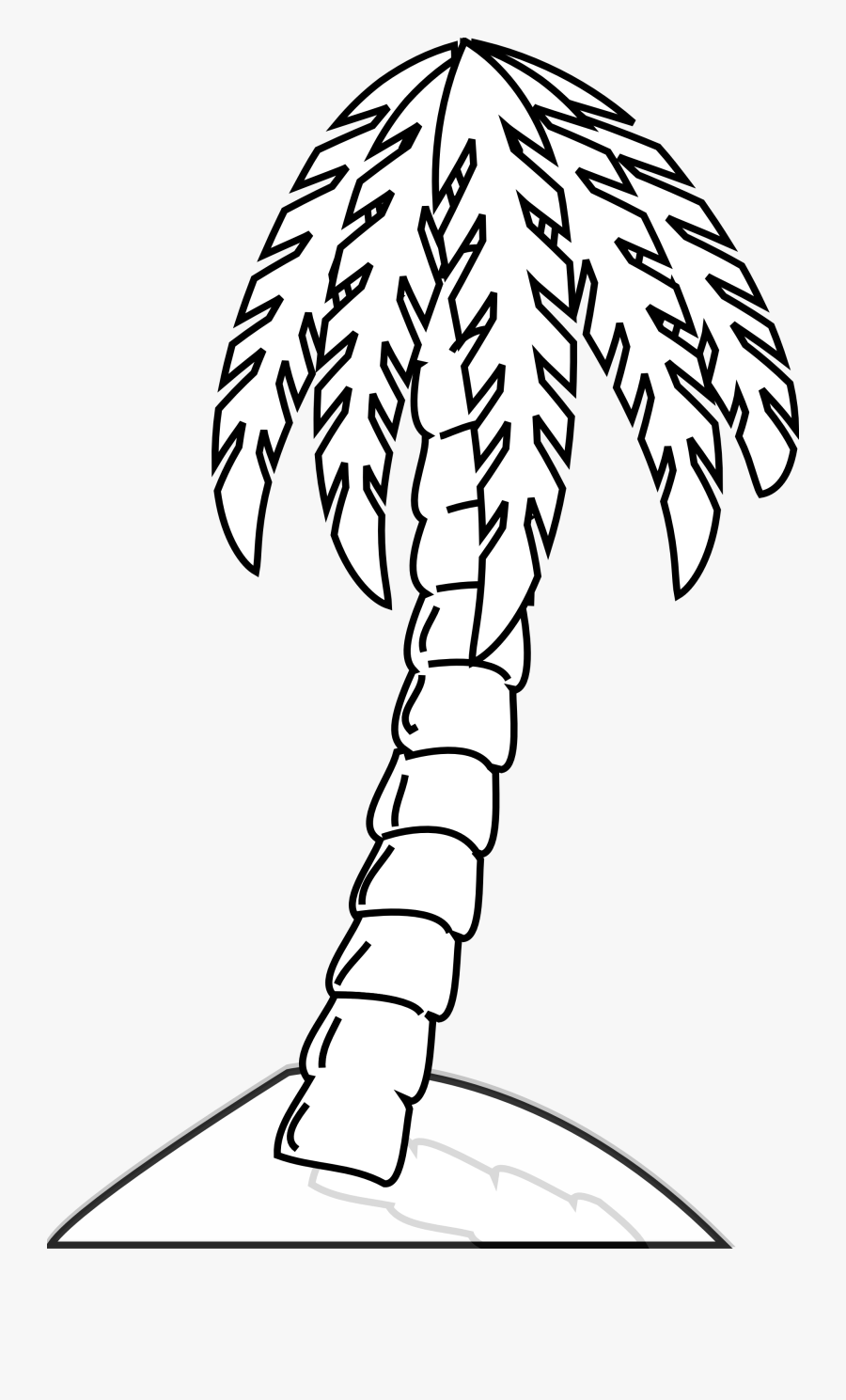 Palm Tree Clipart Black And White - Palm Tree Black And White Clipart Png, Transparent Clipart