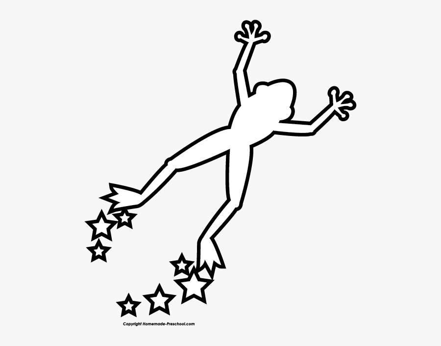Free Frog Clipart - Easy Jumping Frog Drawing, Transparent Clipart