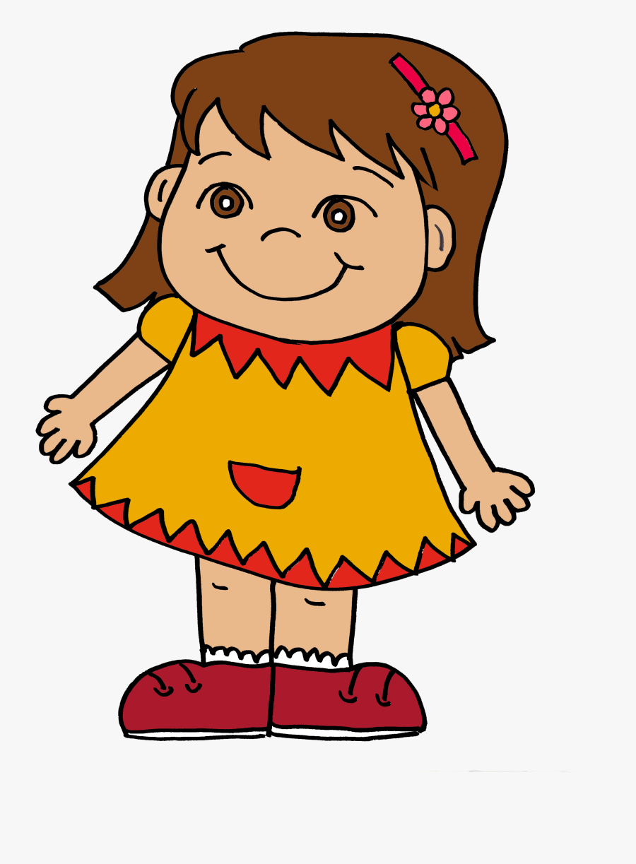 Pink Little Girl Silhouette Clipart - Happy Girl Clipart Transparent, Transparent Clipart