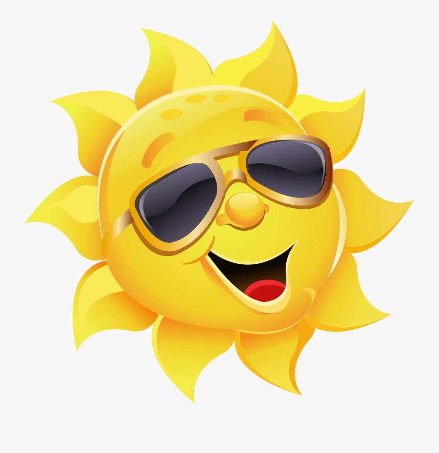 Aviator Sunglasses Stock Illustration Clip Art - Sun With Glasses Png, Transparent Clipart