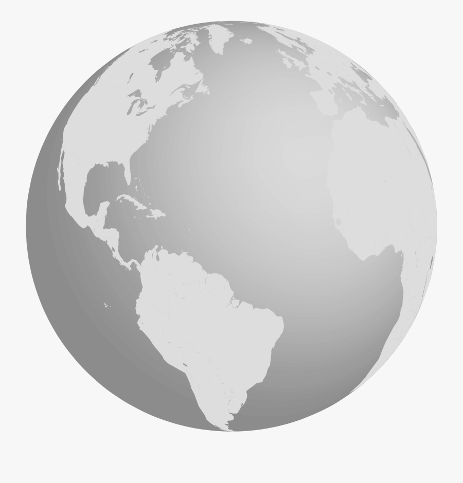 Earth Clipart Gray - Earth Grayscale, Transparent Clipart