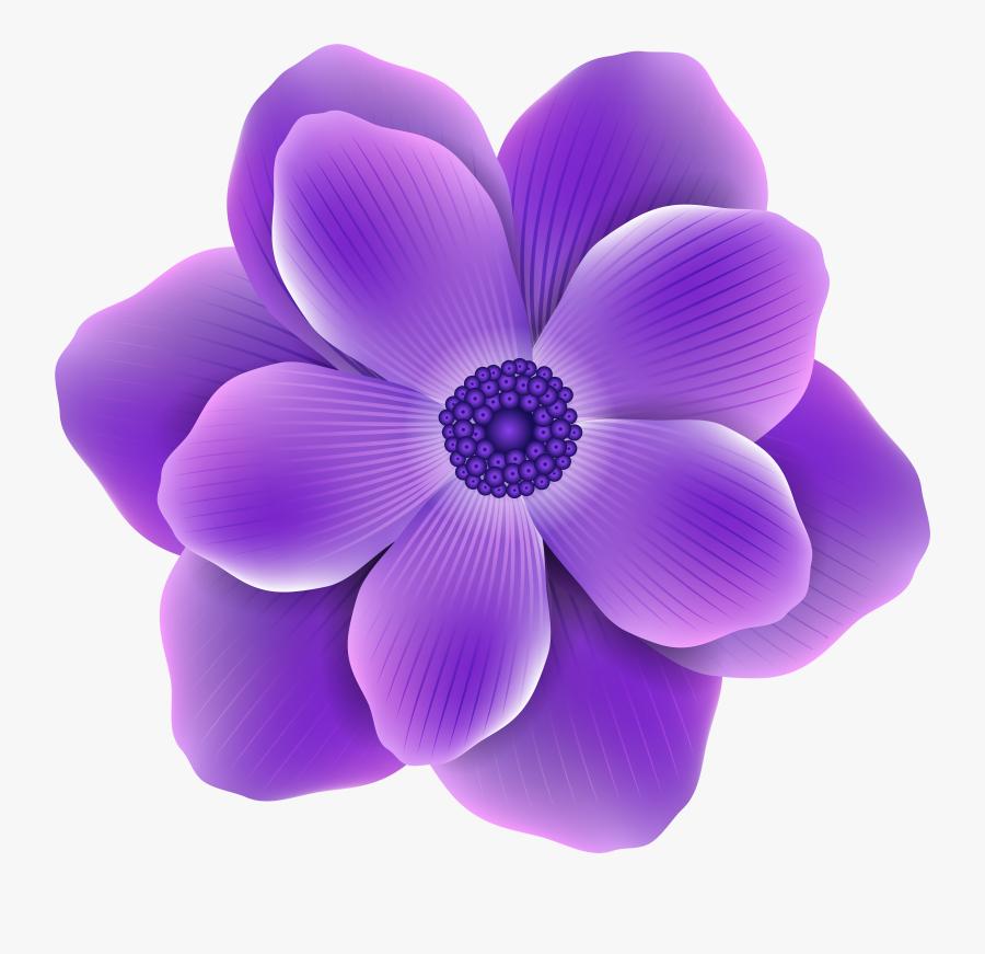 Clip Art Flower Png Image Pinterest - Transparent Background Purple Flower Clipart, Transparent Clipart