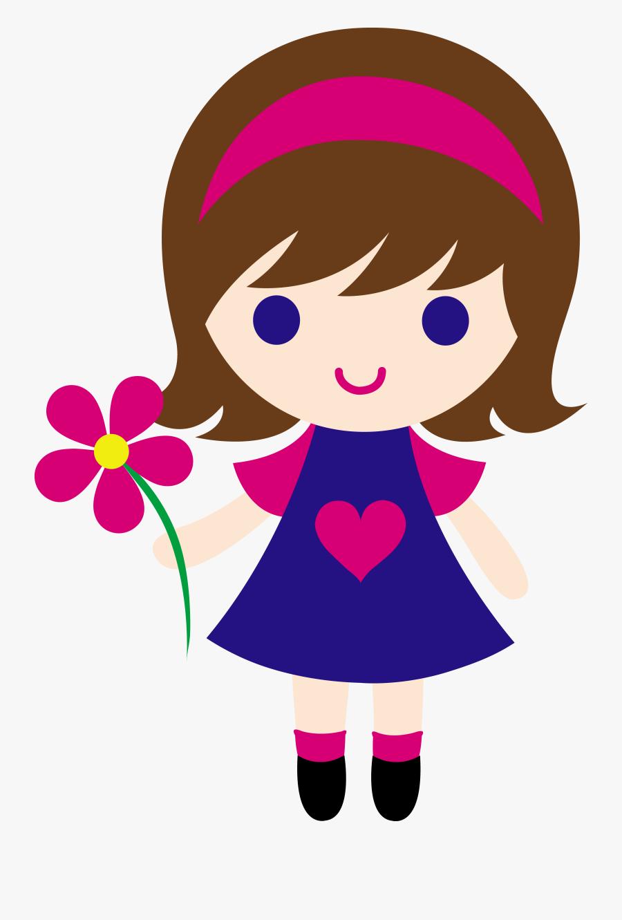 Girls Clip Art - Clip Art Of Girl, Transparent Clipart