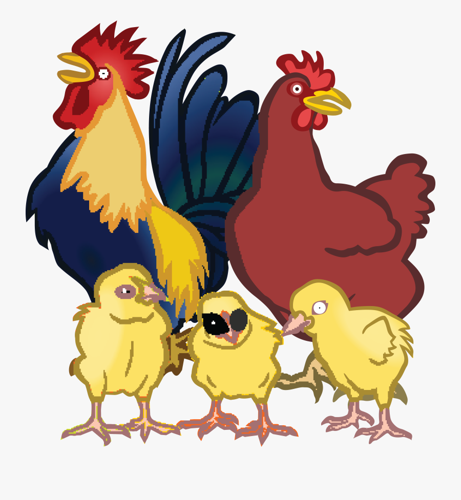Free Clipart Of A Chicken Family Chickens Clipart- - Chickens Clipart, Transparent Clipart