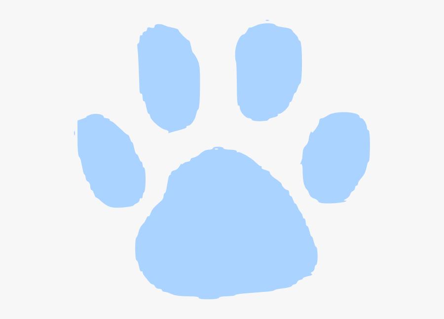 Blue Pawprint Clip Art - Cat Paw Print Black Background, Transparent Clipart