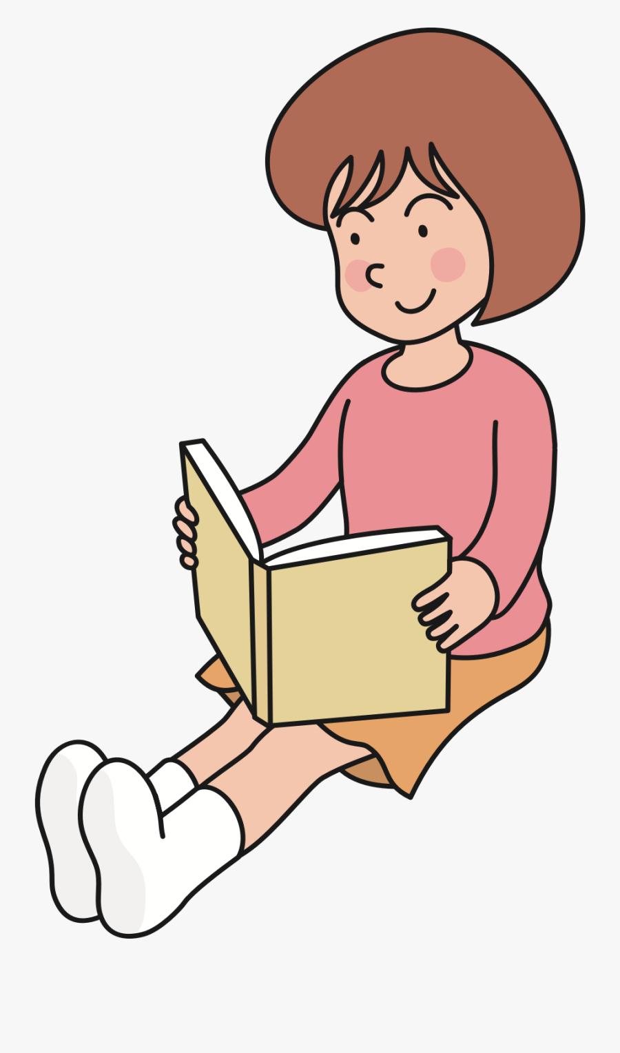 Clip Art Reading Huge Freebie - Clip Art Reading A Book, Transparent Clipart