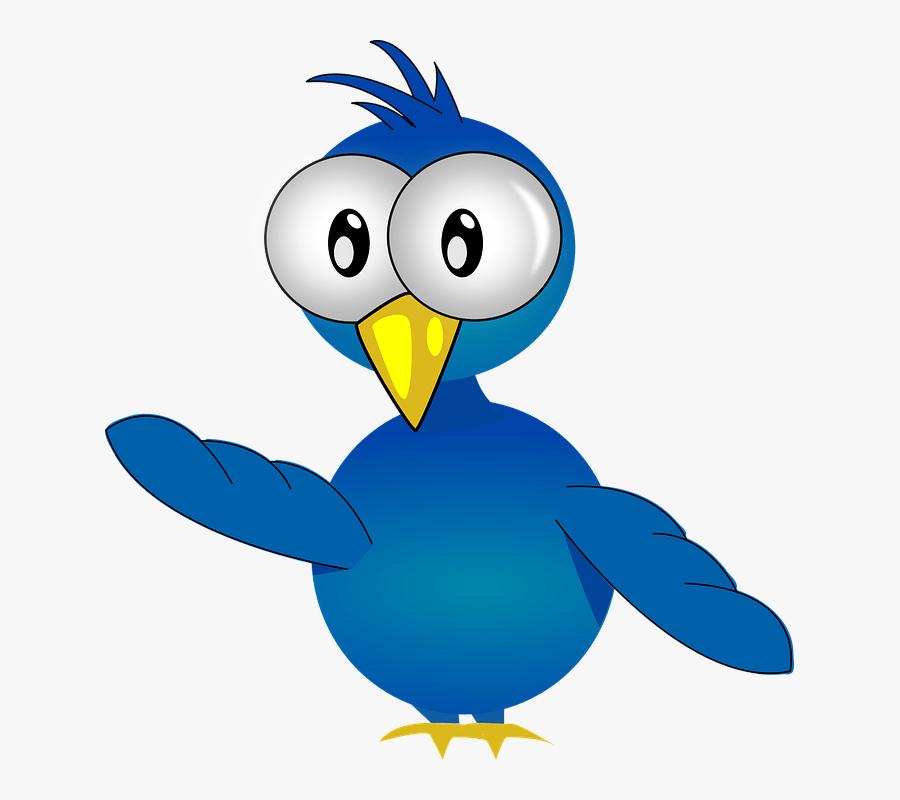 Tweety Bird Bird Clipart Collection - Blue Bird With Big Beak Cartoon, Transparent Clipart