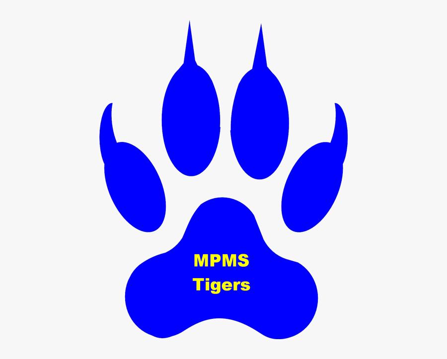 License Paw Print Clip Art - Blue Lion Paw Print, Transparent Clipart