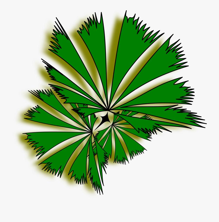 Palm Tree Clip Art Top View Clipart - Clip Art Tree Top View Transparent, Transparent Clipart
