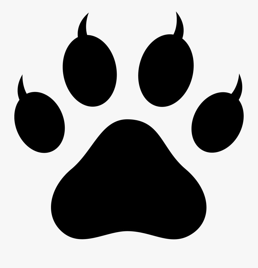 Dog Paw Print Clip Art Free Download - Dog Paw Print, Transparent Clipart