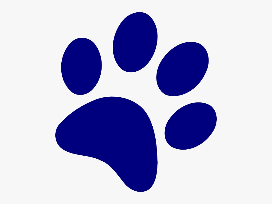 Blue And Yellow Paw Print, Transparent Clipart