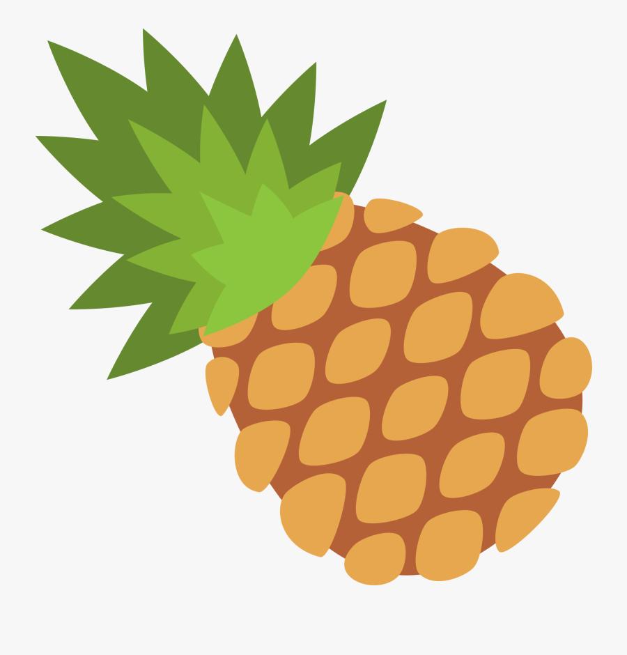 Green Pineapple Cliparts 12, Buy Clip Art - Pineapple Emoji Transparent, Transparent Clipart