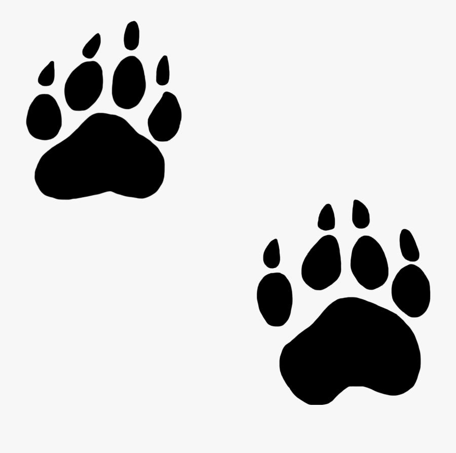 Dog Paw Prints Clipart - Raccoon Paw Print Clip Art, Transparent Clipart