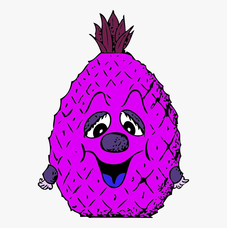 Vector Clip Art - Cartoon Pineapple, Transparent Clipart