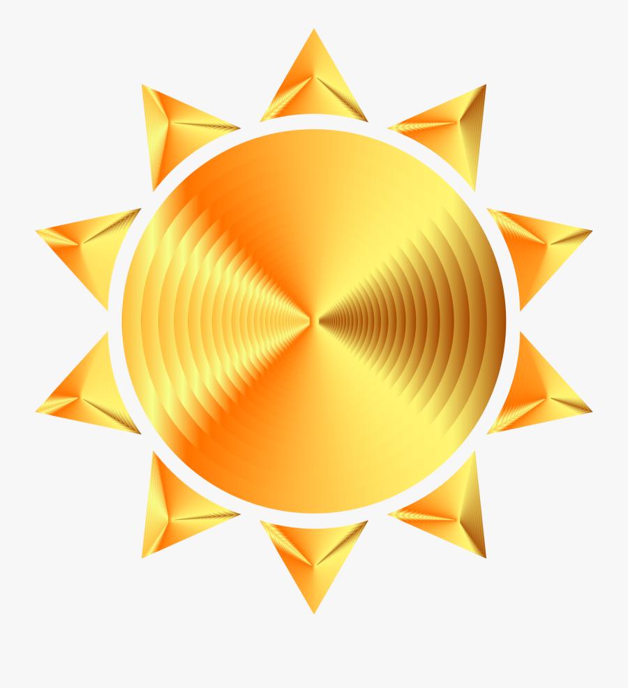 Prismatic Sun Icon Variation 8 Icons Png - Gold Sun Icon Transparent, Transparent Clipart