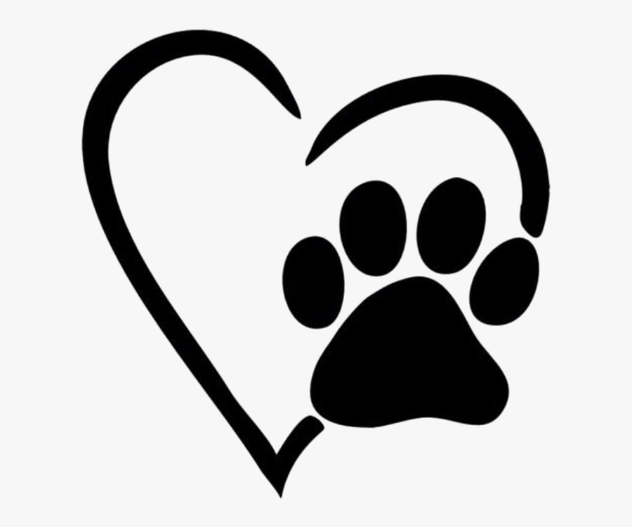 Paw Print Heart Pictures Clipart X Transparent Png - Dog Paw Love, Transparent Clipart