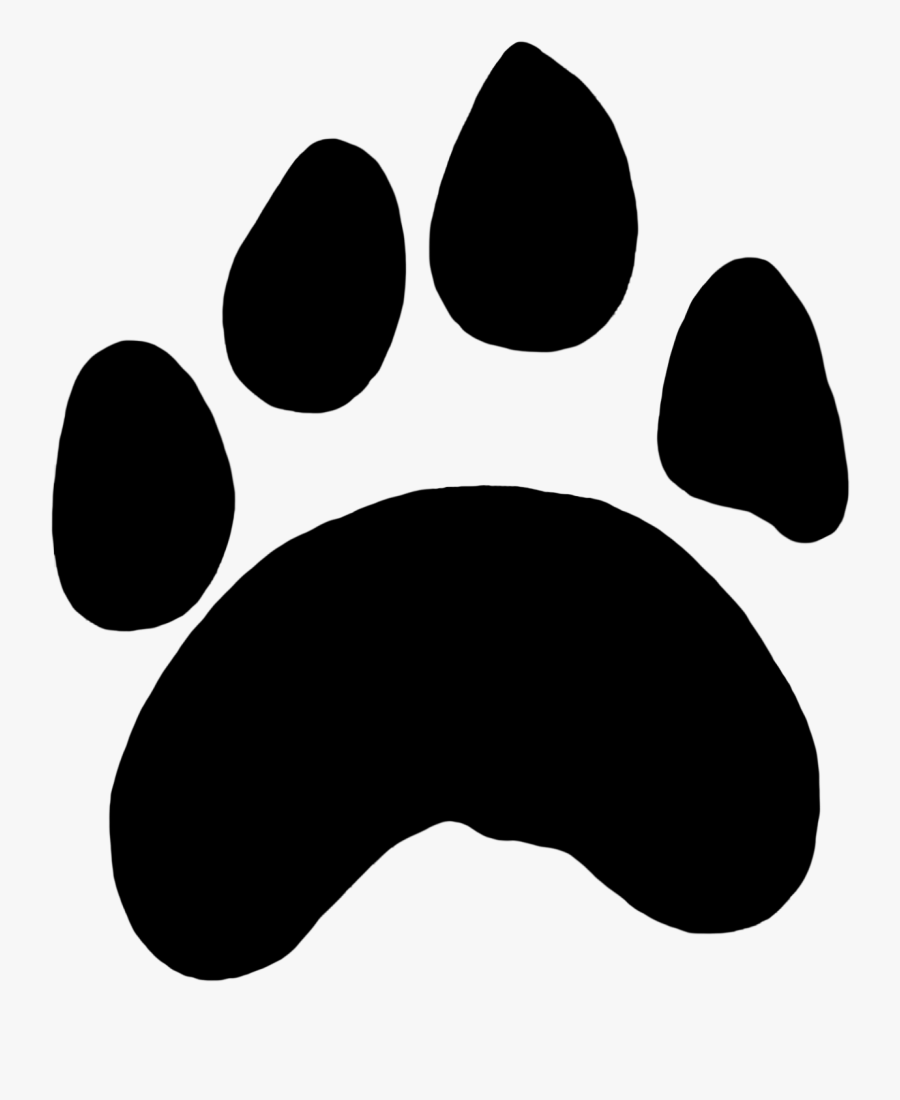 Paw Prints Clipart Tiger Paw - Tiger Paw Print Png, Transparent Clipart