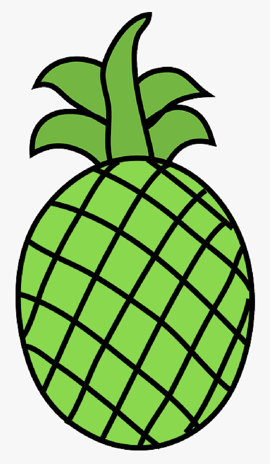 Free Pictures Pineapple - Clip Art Fruits Black And White, Transparent Clipart