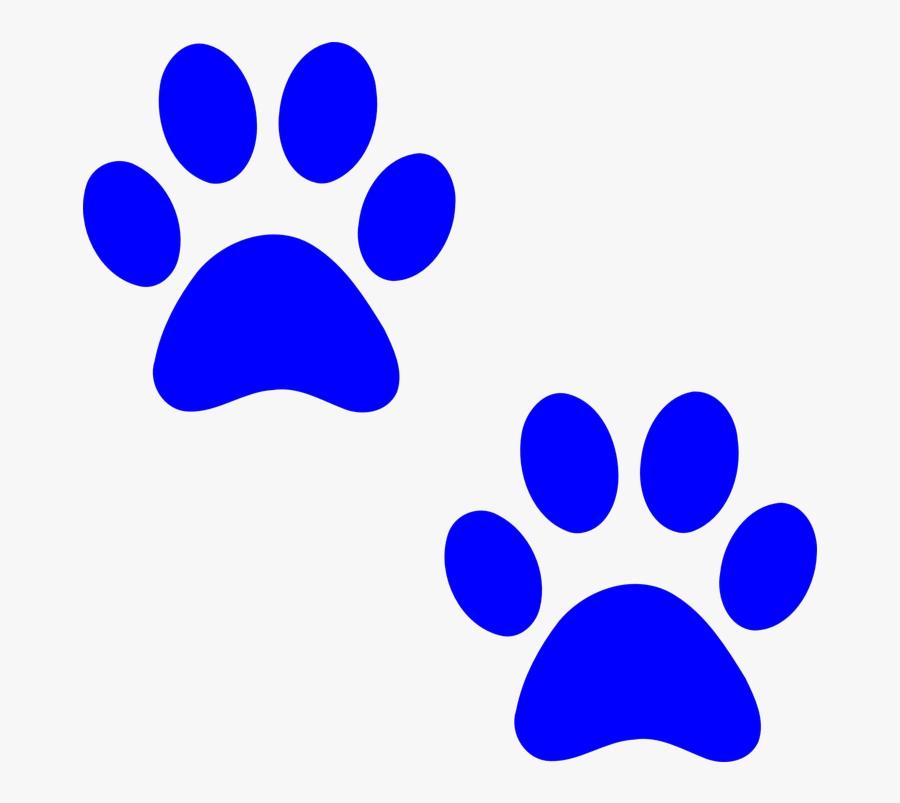 Paw Prints, Dog, Paw, Print, Cat, Foot, Pet, Footprint - Blue Paw Prints, Transparent Clipart