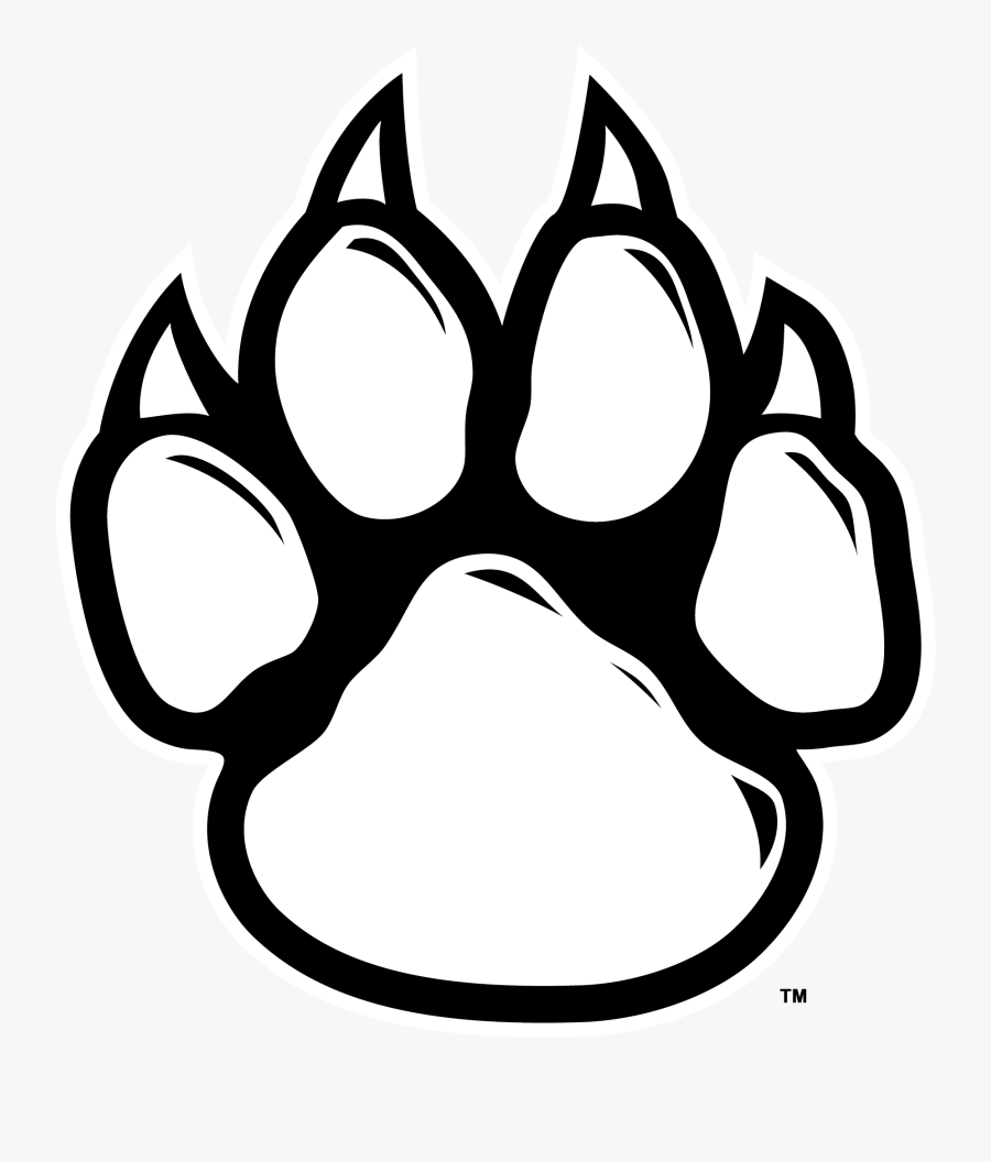 Tiger Paw Print Drawing, Transparent Clipart