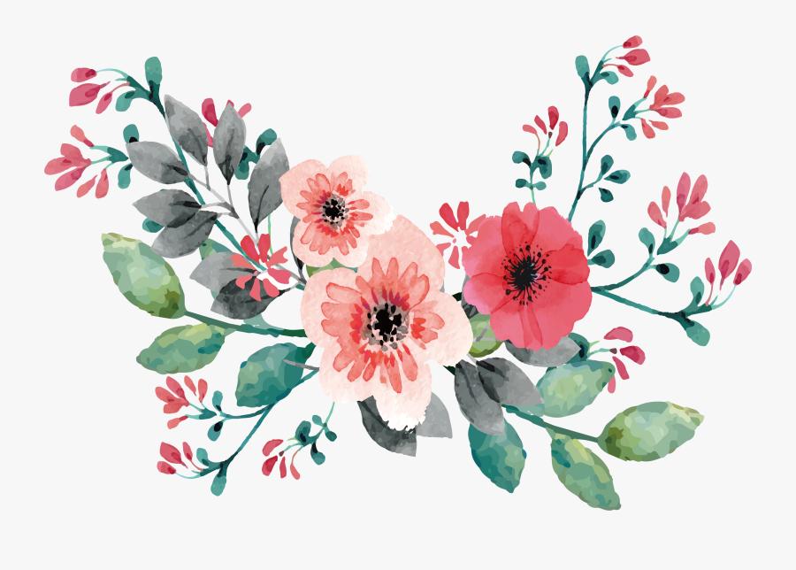 Wedding Invitation Flower Painting - Flower Clipart For Wedding Invitations, Transparent Clipart