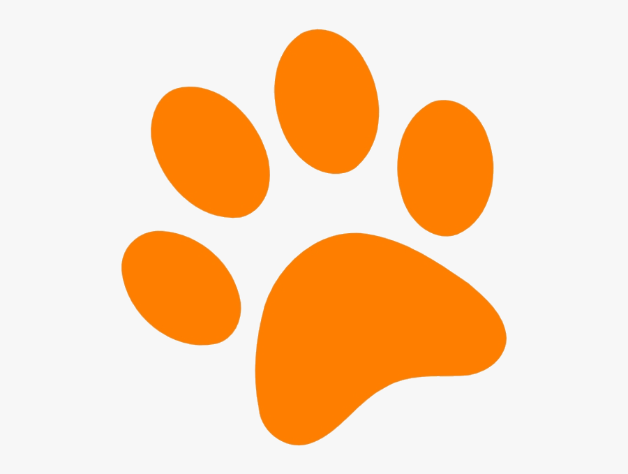 Yellow Paw Print Clip Art At Vector Clip Art Online - Paw Patrol Orange Paws, Transparent Clipart