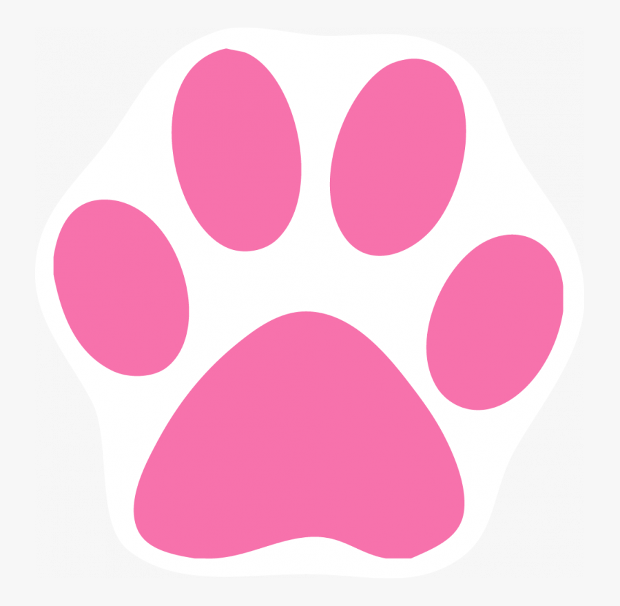 Pink Cat Paw Print, Transparent Clipart