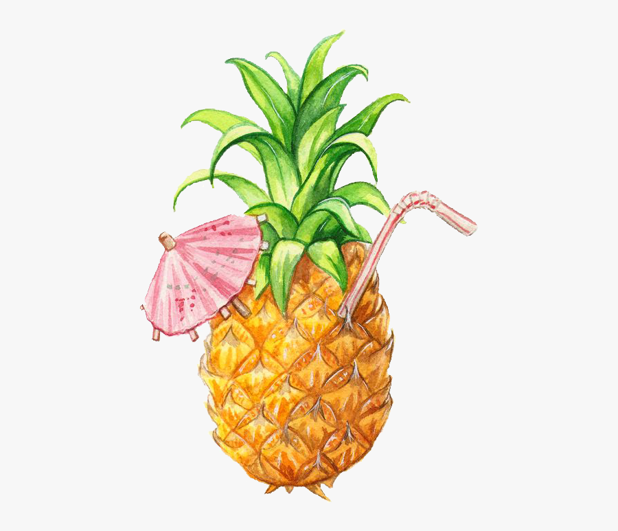 Pineapple Illustration, Transparent Clipart