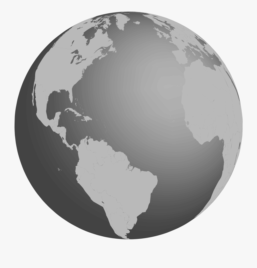 Grayscale Earth Clipart , Png Download - Grayscale Earth, Transparent Clipart
