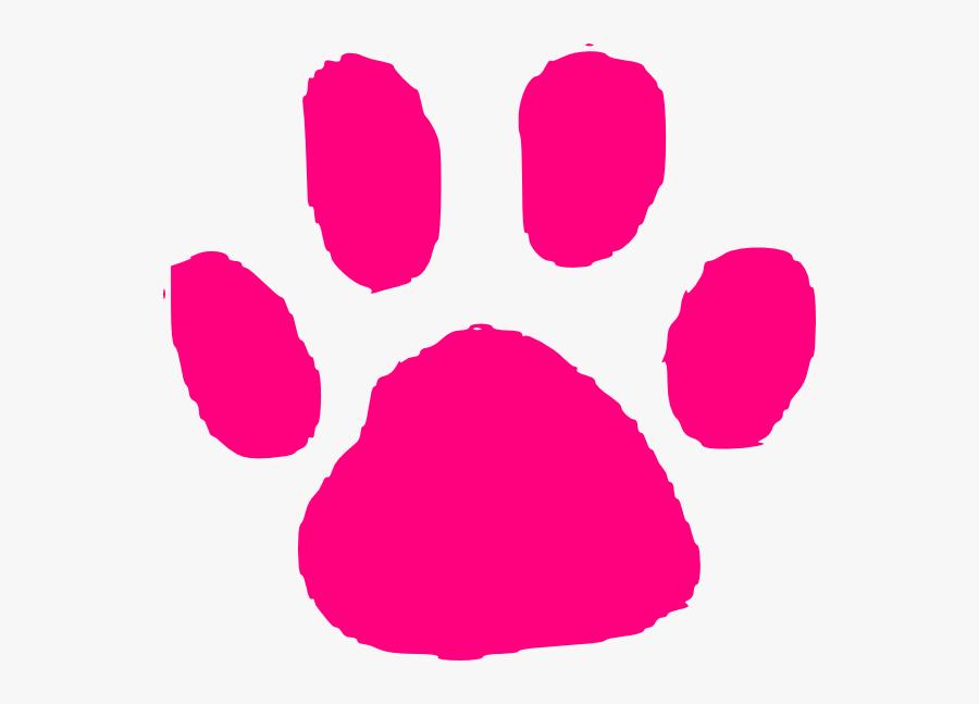 Pink Paw Print Clip Art, Transparent Clipart