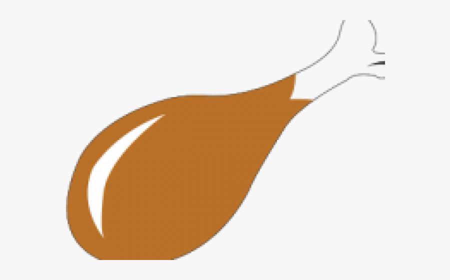 Fried Chicken Clipart - Gambar Ayam Drumstick Kartun, Transparent Clipart