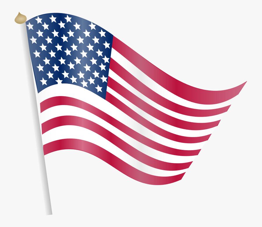 Clip Art And American Flag Dromfep Top Clipartix Clipartix - Free American Flag Transparent Background, Transparent Clipart