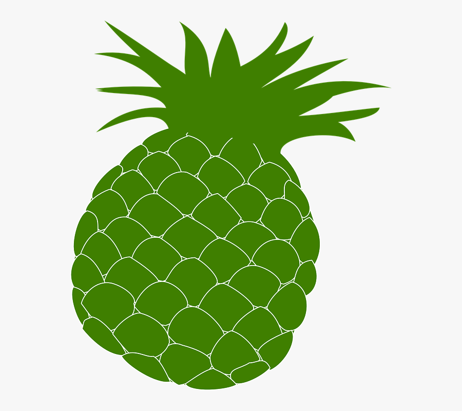 Pineapple, Green, Food, Fruit, Health, Hawaii, Hawaiian - Pineapple Green, Transparent Clipart