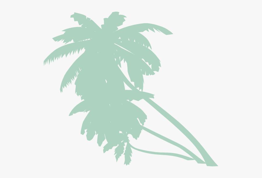 Palm Tree Clipart Rainforest Tree - Orange Palm Trees Clip Art, Transparent Clipart