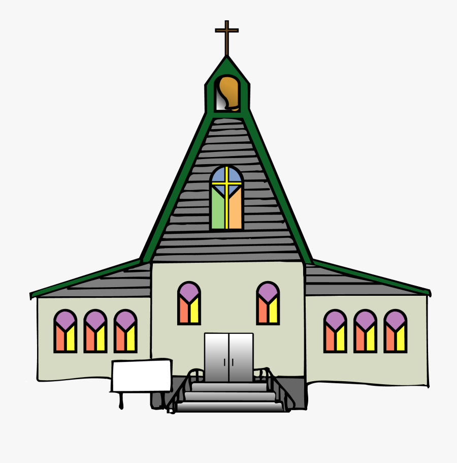 Black Church Clip Art Free Clipart Images - Transparent Background Church Clipart, Transparent Clipart