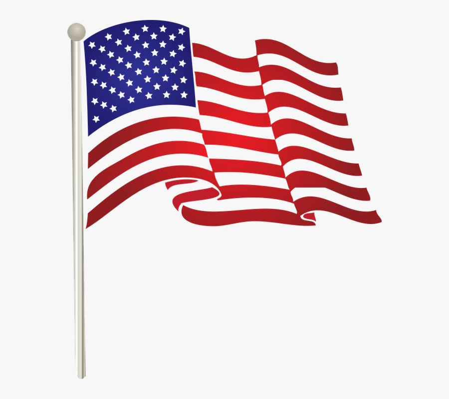 Transparent American Flag Clipart, Transparent Clipart
