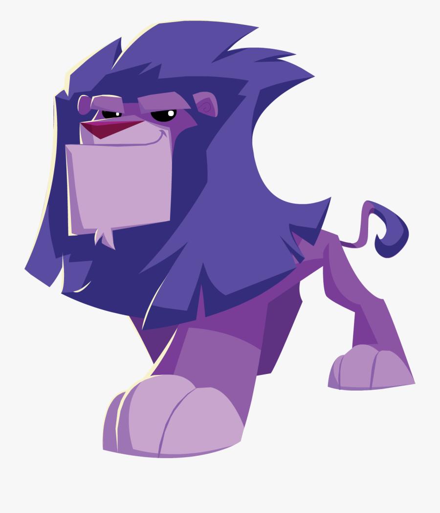 Transparent Cartoon Lion Png - Animal Jam Lion Transparent, Transparent Clipart