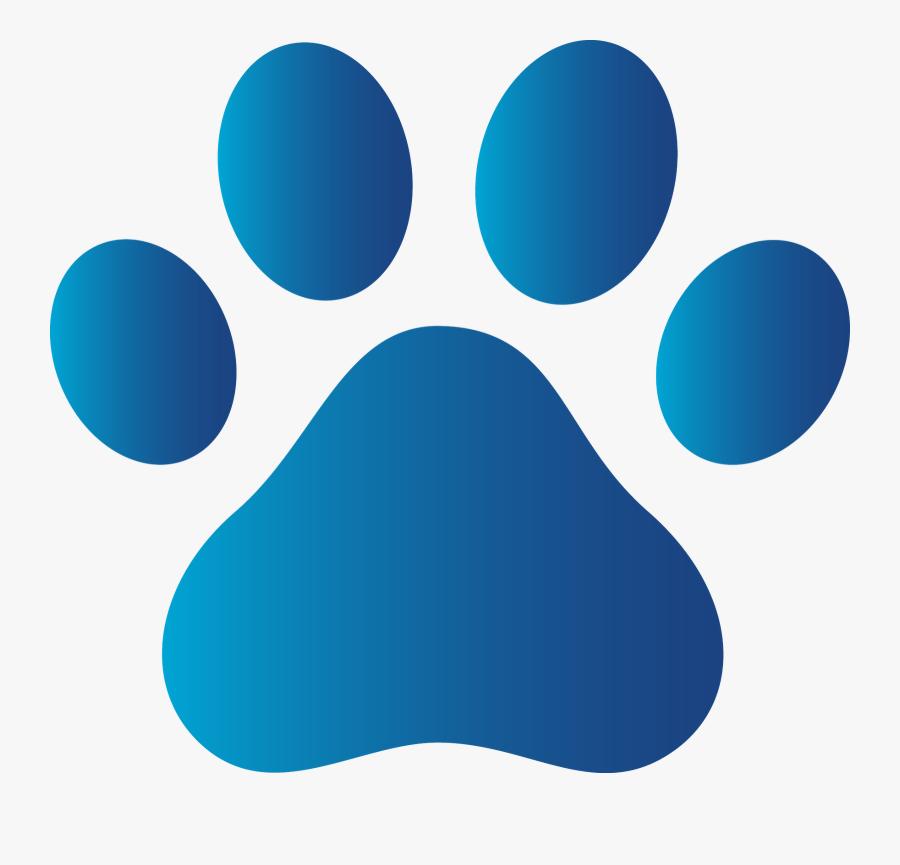 Husky Paw Print Clip Art - Blue Dog Paw Print, Transparent Clipart